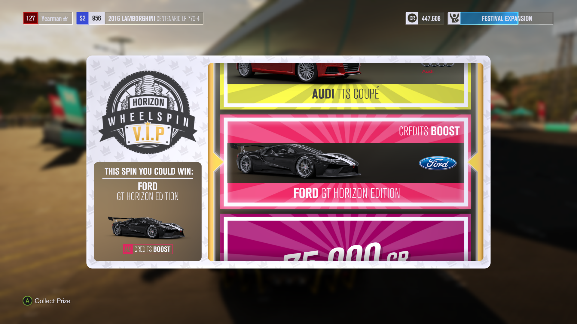 Drivers Will Get A Wheelspin After Each Level Up Where They Can Win A Car Or Credits