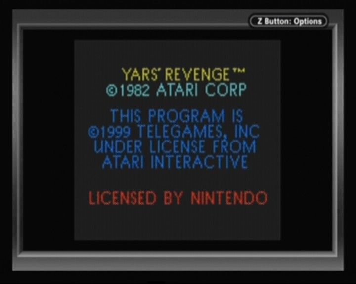Yars' Revenge Game Boy Color Legal info of the original and GBC port