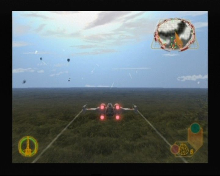 Star Wars: Rogue Squadron III - Rebel Strike GameCube Note how the X