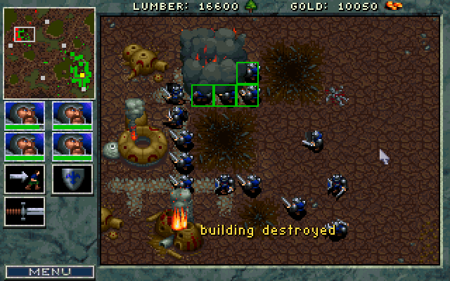 WarCraft: Orcs & Humans DOS Destruction of the town