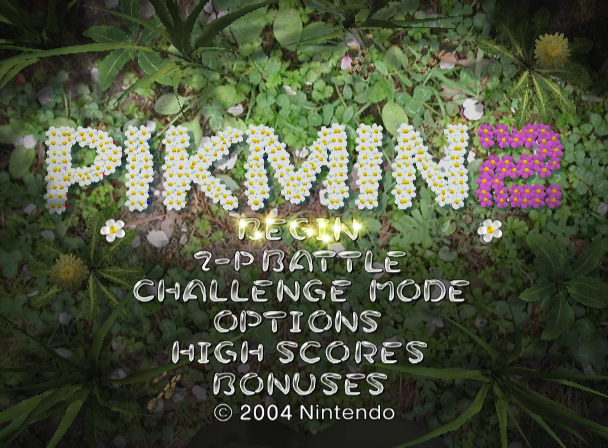 Pikmin 2 GameCube Title Screen