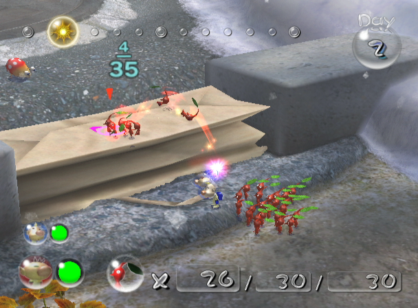 Pikmin 2 GameCube A Simple Obstacle