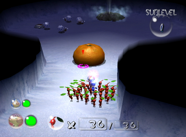 Pikmin 2 GameCube Caves are filled with Treasure and Monsters