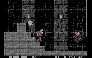Monty Python's Flying Circus Amiga The grand Spanish Inquisitor appears and throws pillows at you
