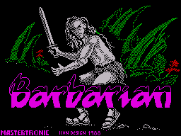 Barbarian ZX Spectrum Loading Screen