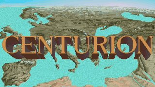 Centurion: Defender of Rome DOS Title Screen