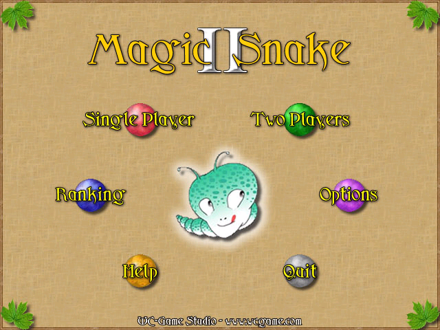 Magic Snake II Windows Main menu