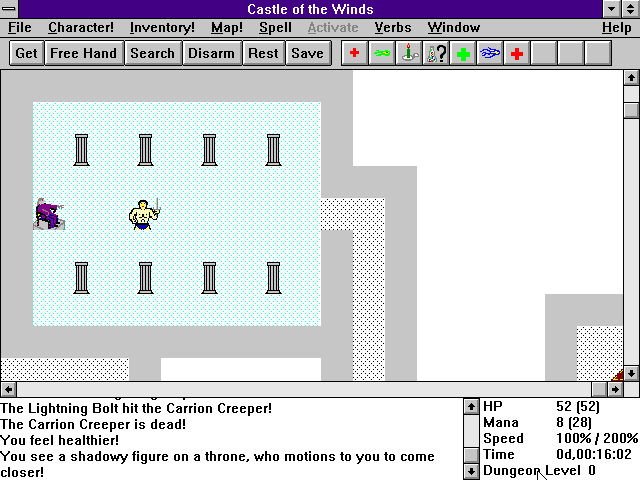 Castle of the Winds II: Lifthransir's Bane Windows 3.x And Who Could This Be?