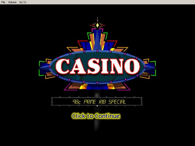 Casino! Windows 3.x The title screen.