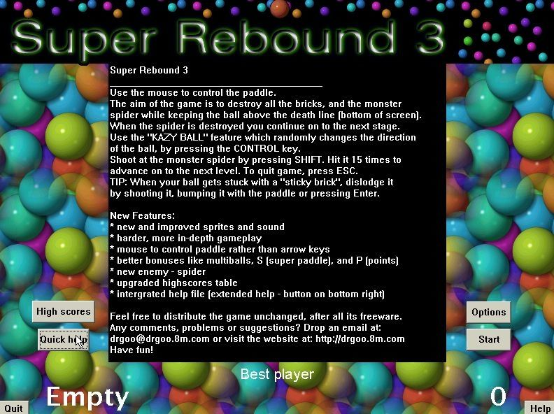 Super Rebound 3 Screenshots for Windows - MobyGames