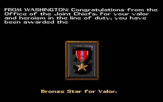Red Storm Rising Amiga Received a medal!