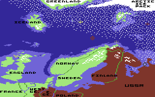 Red Storm Rising Commodore 64 Map.