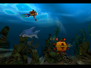Crash Bandicoot: Warped PlayStation Scuba Crash