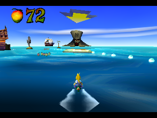 Crash Bandicoot: Warped PlayStation Coco Riding a Jetski