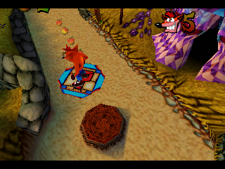 "Crash Bandicoot: Warped PlayStation Platforms bearing a ""?"" take crash to bonus levels."