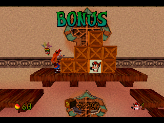 Crash Bandicoot: Warped PlayStation Bonus Level
