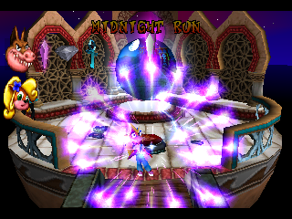 Crash Bandicoot: Warped PlayStation After collecting a purple crystal, indicating that you beat the level, this animation shows.