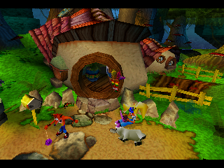 Crash Bandicoot: Warped PlayStation Crash and Company at Home