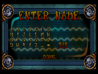 Crash Bandicoot: Warped PlayStation Upon beating a previously set time achievement in time trial mode, you get to enter your three letter name.