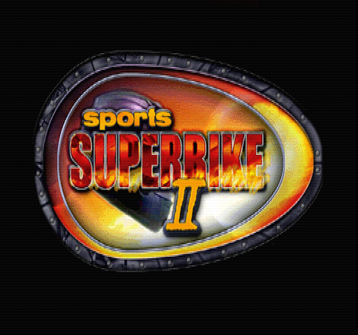 Sports Superbike 2 PlayStation Title screen.