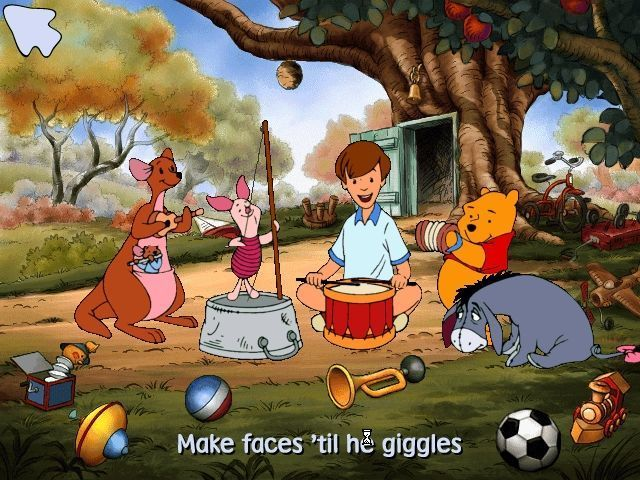 58bb8312ed9f Christopher Robin s game is a musical game. Hovering over any character  will result in a song