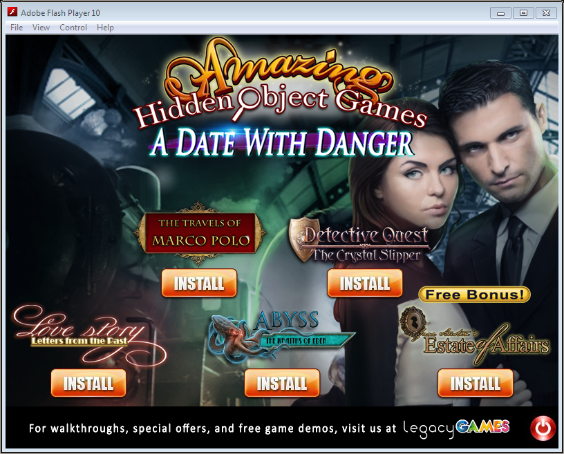 Amazing Hidden Object Games: A Date With Danger