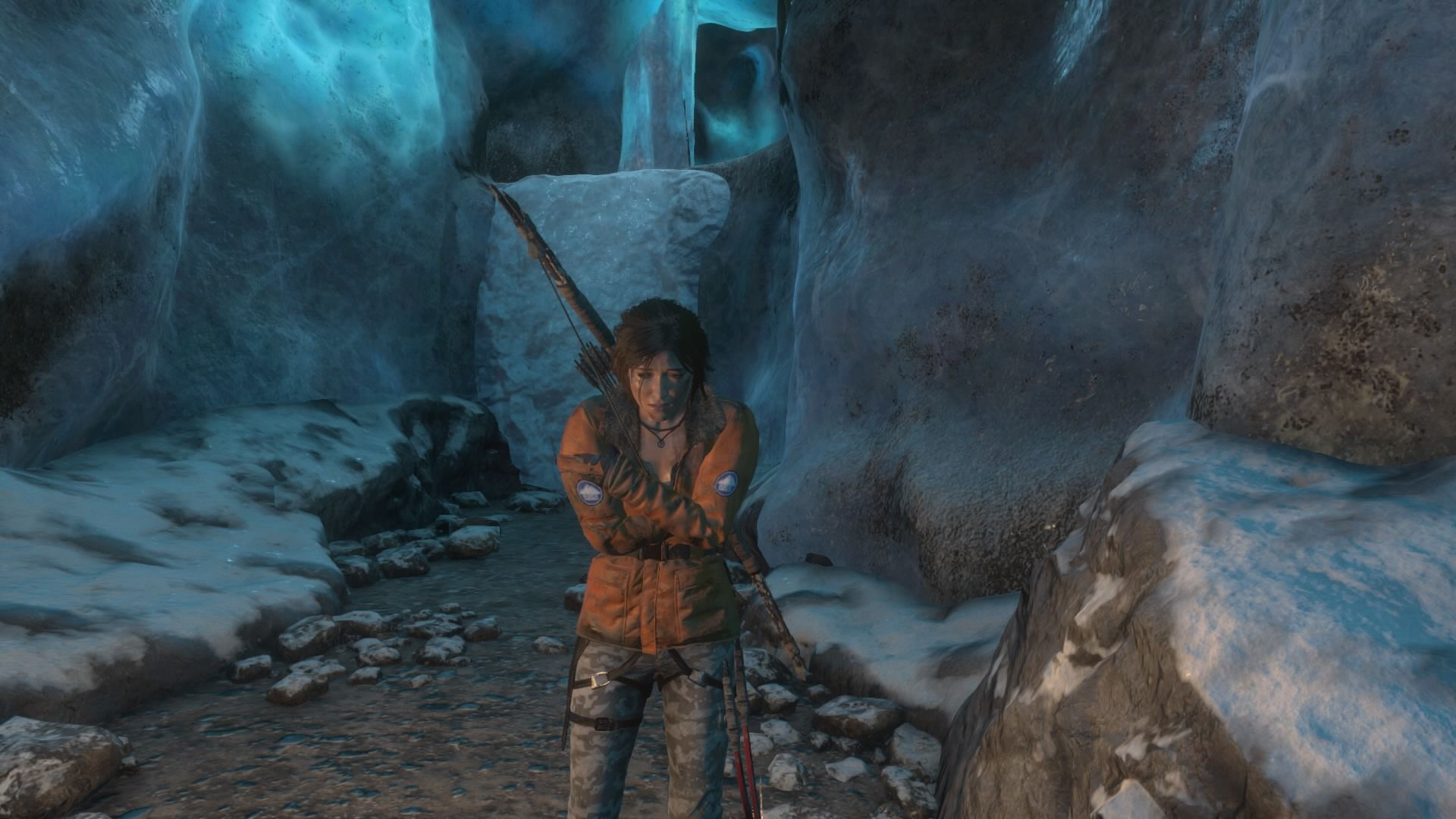 Rise Of The Tomb Raider 20 Year Celebration Screenshots For Sony Ps4 Pack Reimagined Antarctica Outfit In Action Front View