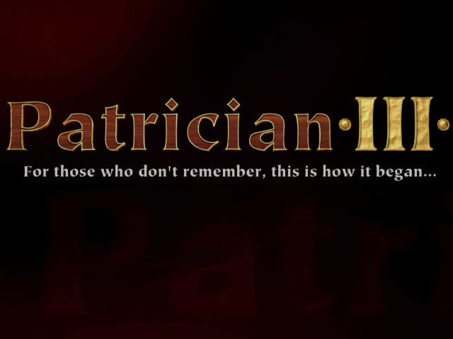 Patrician III Windows Title screen from intro