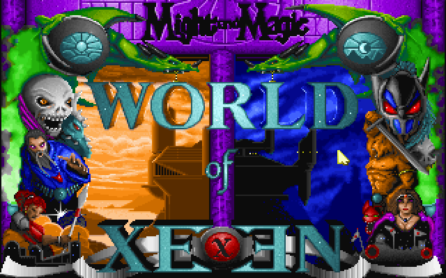 Might and Magic: World of Xeen DOS Game title, see Darkside/Clouds shots for more