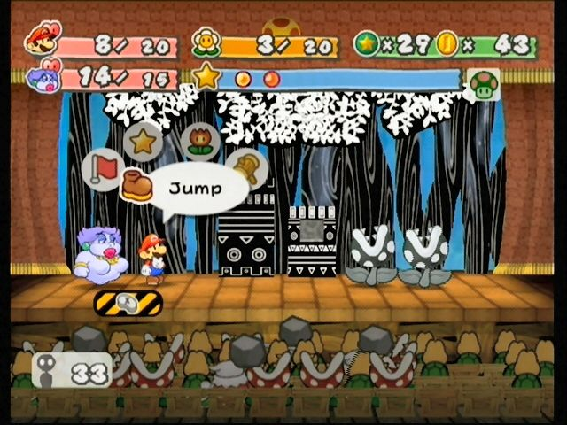Paper Mario: The Thousand-Year Door GameCube A battle with man-eating Piranhas!