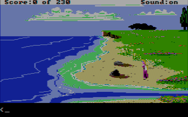 King's Quest IV: The Perils of Rosella DOS (AGI) Starting off (CGA w/Composite Monitor)
