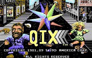 QIX Screenshots for Commodore 128 - MobyGames