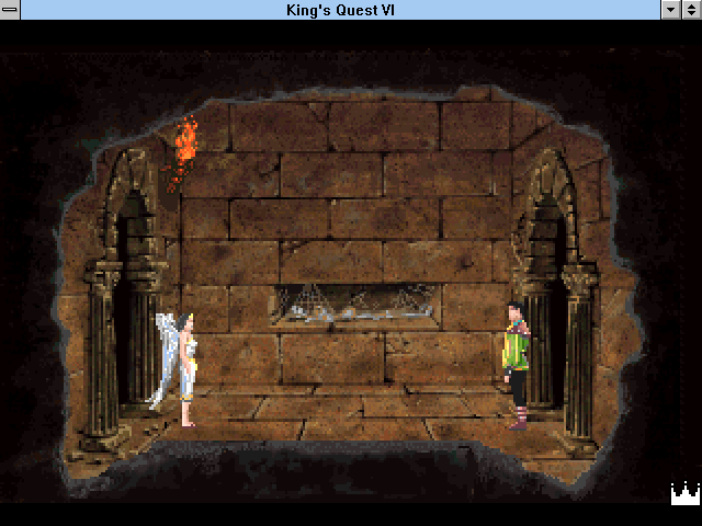 King's Quest VI: Heir Today, Gone Tomorrow Windows 3.x Hello, young lady!