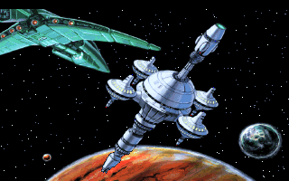 Space Quest V: The Next Mutation DOS The hunter ship