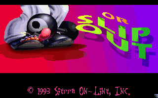 Leisure Suit Larry 6: Shape Up or Slip Out! DOS Title screen B