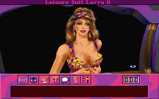Leisure Suit Larry 6: Shape Up or Slip Out! DOS The girl at the reception desk