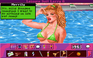 Leisure Suit Larry 6: Shape Up or Slip Out! DOS Talking with Merrily