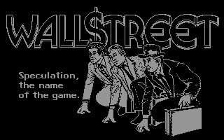 Wall$treet Commodore 64 Title screen