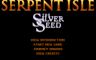 Ultima VII: Part Two - The Silver Seed DOS Main menu
