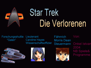 Star Trek: Die Verlorenen Windows Title screen