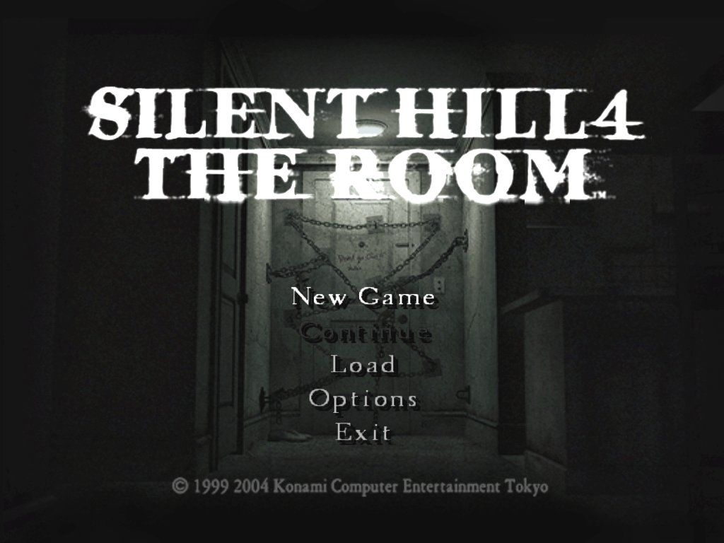 Silent Hill 4: The Room Windows The main menu, not much to see here...