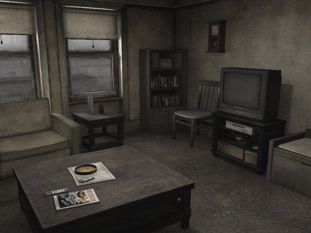 Silent Hill 4: The Room Windows Look at the size of that TV!! Why would you wanna leave the room anyway?