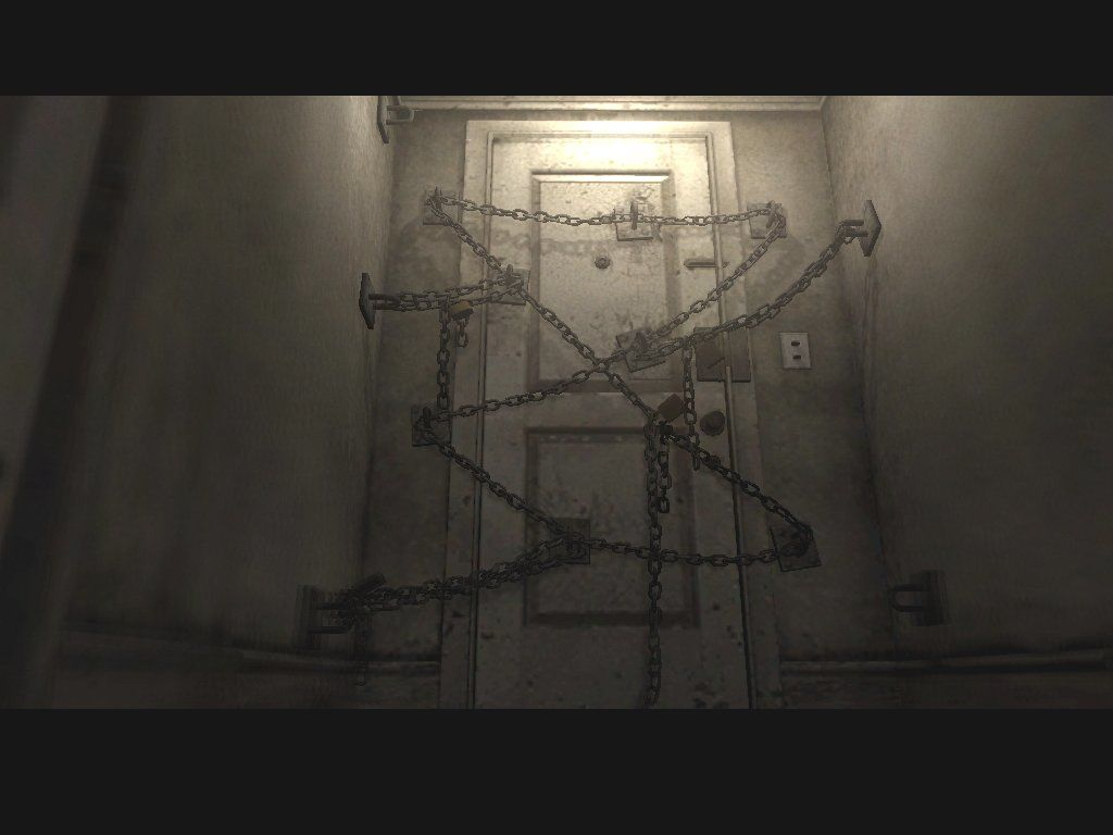Silent Hill 4: The Room Windows And the main attraction of the show: the infamous Room's door.