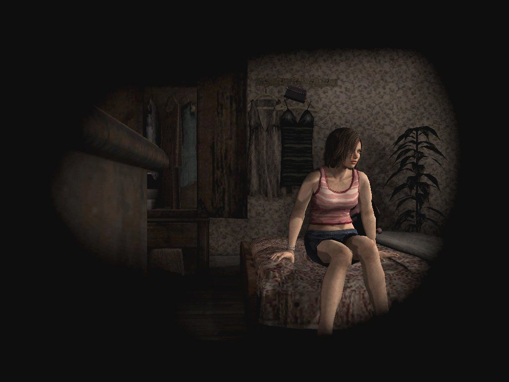 Silent Hill 4: The Room Windows Forget about weird parallel dimensions, now THIS is a useful hole!! Well he-llooooo, sweet Eileen... ahem... man, I feel kinda dirty...