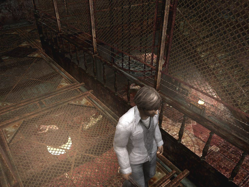 Silent Hill 4: The Room Windows Hello? This is Konami, we need a few hundred thousands square meters worth of rusty grating... yes, we ARE working on a new Silent Hill, how did you know that?!?