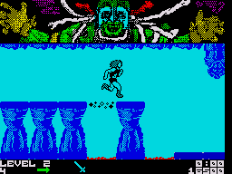 Thundercats ZX Spectrum Run across the loose platform or you will fall to your death