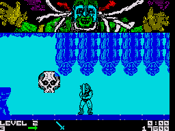 Thundercats ZX Spectrum The giant skull chases after you and must be killed quickly