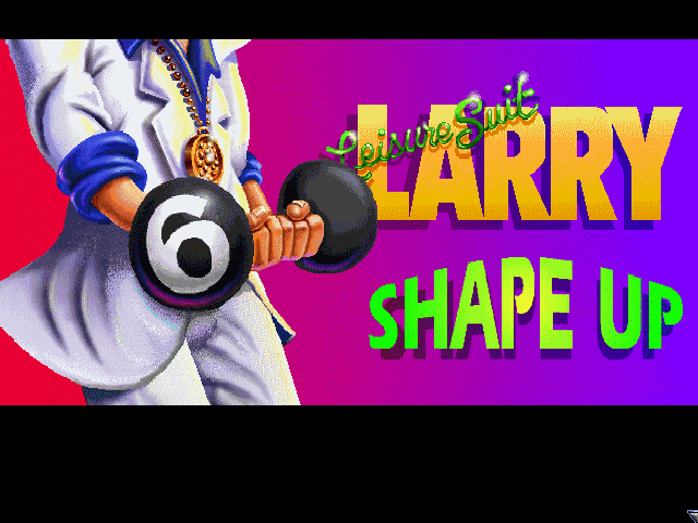 Leisure Suit Larry 6: Shape Up or Slip Out! Windows 3.x Title screen, part 2 (CD-ROM version)