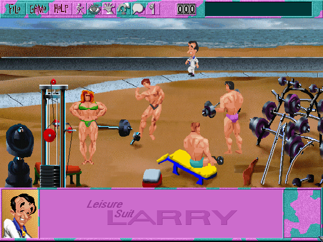 Leisure Suit Larry 6: Shape Up or Slip Out! Windows 3.x Part of the opening sequence (CD-ROM version)