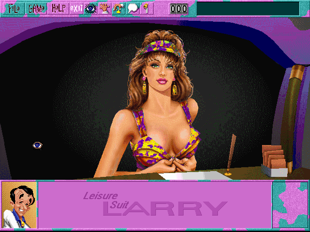 Leisure Suit Larry 6: Shape Up or Slip Out! Windows 3.x The receptionist (CD-ROM version)